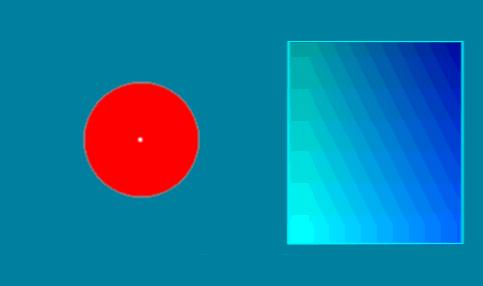 Ilusión azul verdoso