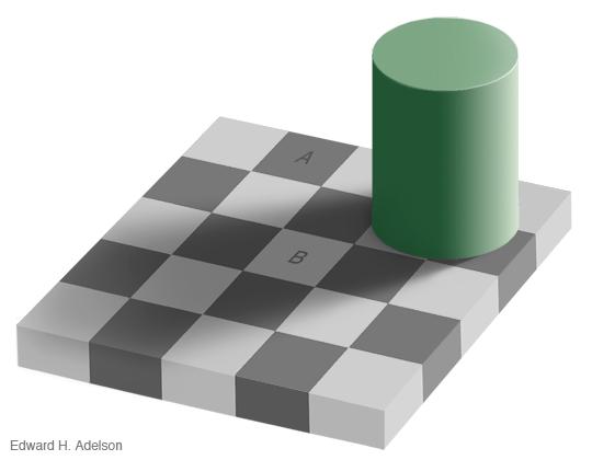 Ilusión óptica - Colores diferentes