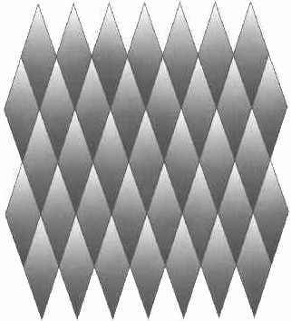 Ilusión óptica - Rombos grises