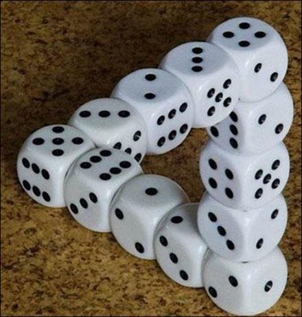 Ilusiones ópticas - Dados imposibles