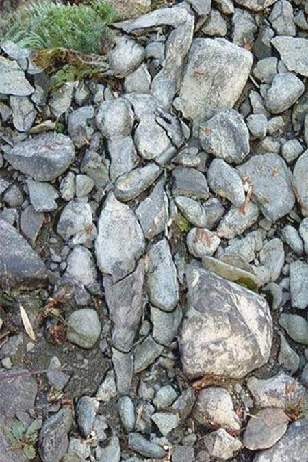 Ilusiones ópticas - Mujer de piedra