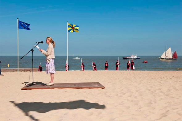 Ilusión óptica - Volando en la playa